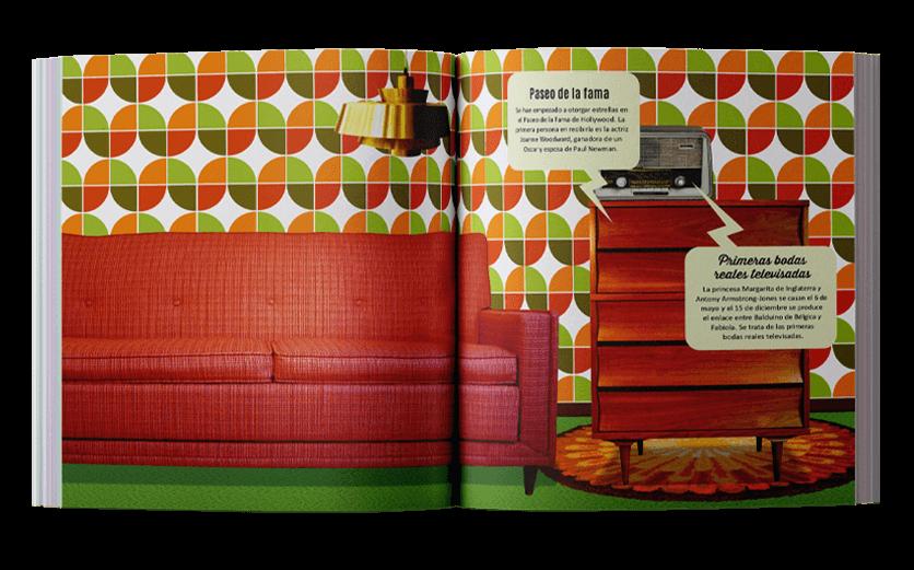 Decoración hogar década de los 60s año 1960